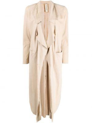 Длинное пальто без застежки с лацканами с драпировкой Giorgio Brato