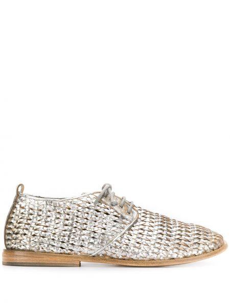 Туфли на каблуке на низком каблуке плетеные Marsèll