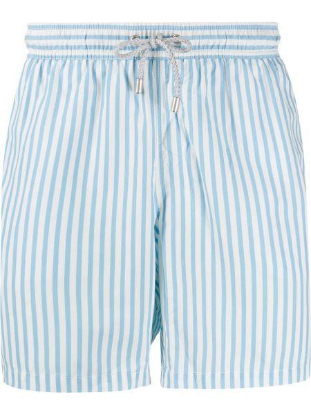 Niebieskie krótkie szorty w paski Bluemint