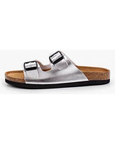 Серебряные сабо летние Ideal Shoes®