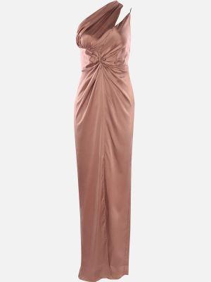 Satynowa sukienka wieczorowa Trendyol