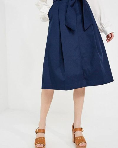 Синяя юбка Trussardi Jeans