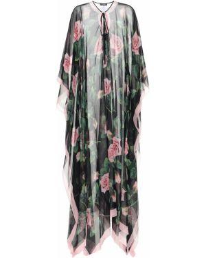 Кафтан зеленый черный Dolce & Gabbana