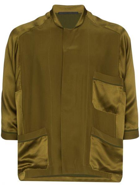 Zielona piżama z jedwabiu Haider Ackermann