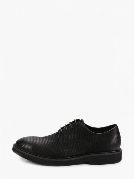 Черные туфли из нубука Guido Grozzi