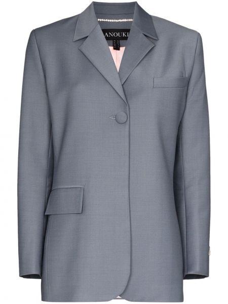 Серая куртка с манжетами на пуговицах с карманами Anouki