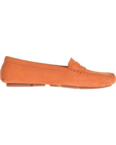 Мокасины кожаные замшевые Gianros
