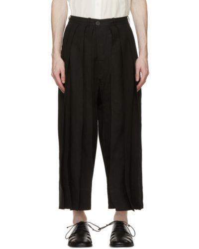 Czarne spodnie z paskiem Jan-jan Van Essche