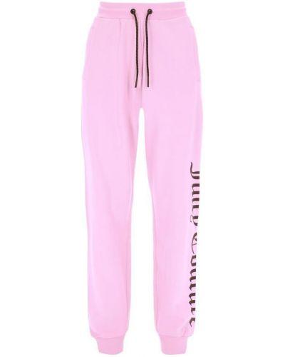 Różowe joggery Juicy Couture