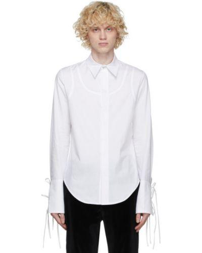 Biała koszula bawełniana z długimi rękawami Palomo Spain
