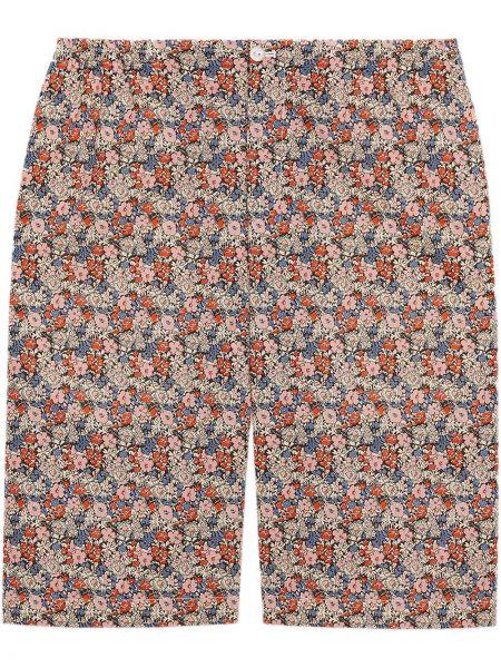 Bawełna różowy bawełna szorty z kieszeniami Gucci
