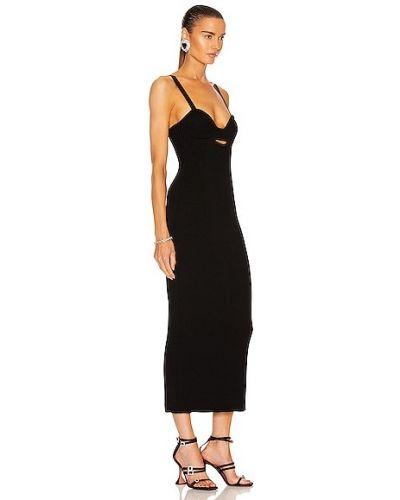 Czarna sukienka skórzana Magda Butrym