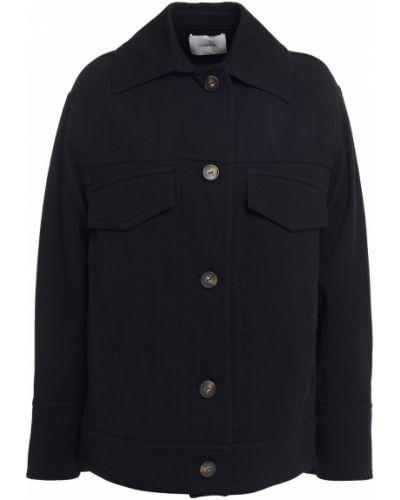Хлопковая ватная черная куртка Vince