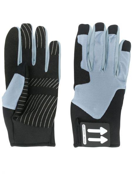 Czarne rękawiczki z siateczką Off-white