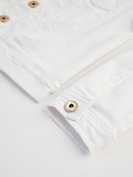 Джинсовая куртка - белая Defacto