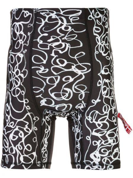 Черные короткие шорты стрейч Charles Jeffrey Loverboy