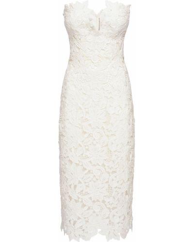Хлопковое кружевное белое платье Ermanno Scervino