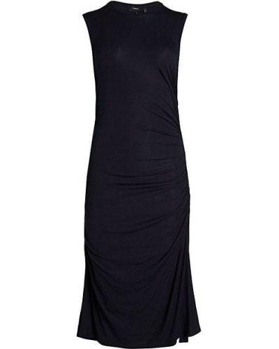 Расклешенное трикотажное платье с оборками Theory