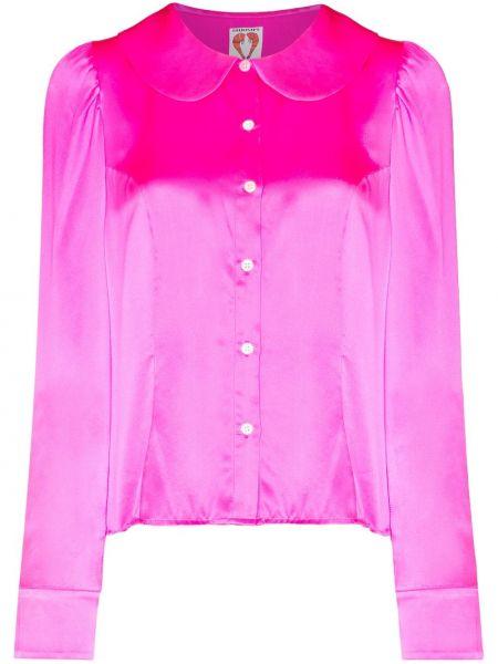 Розовая шелковая блузка Shrimps