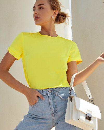 Желтая легкая блузка Gepur
