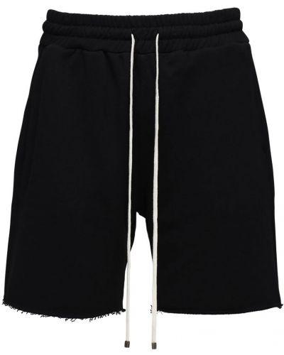 Czarne szorty bawełniane Flaneur Homme