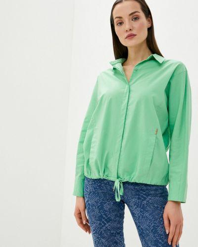 С рукавами зеленая блузка Helmidge