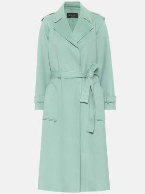 Классическое зеленое кашемировое пальто классическое Loro Piana