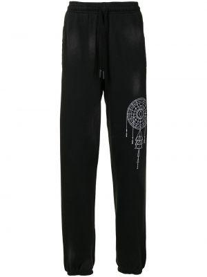 Spodnie bawełniane - czarne Marcelo Burlon County Of Milan