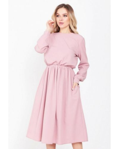 Прямое розовое платье А-силуэта Magnet