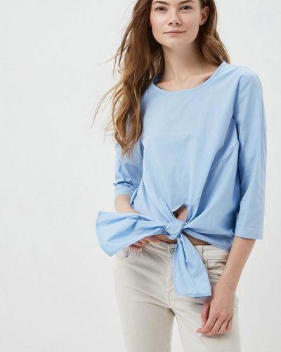 Голубая блузка с бантом Modis