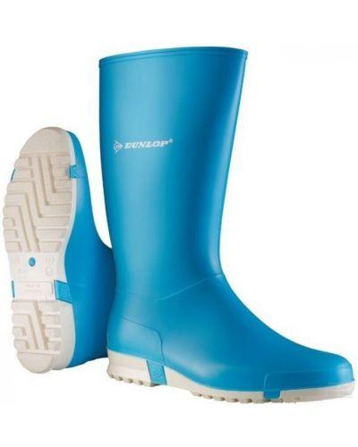 Резиновые сапоги сетчатые - синие Dunlop