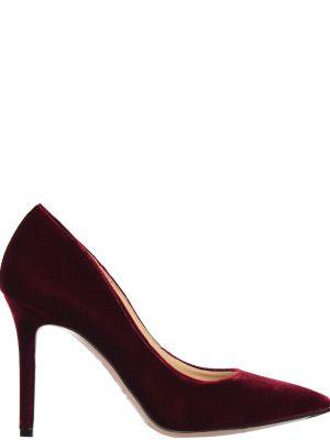 Кожаные туфли на каблуке велюровые Nando Muzi