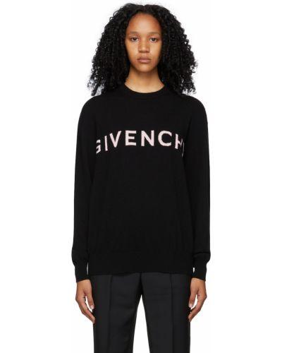 Z kaszmiru sweter - czarny Givenchy