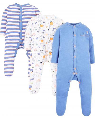 Ползунки белые голубой Mothercare