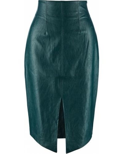 Зеленая юбка миди с разрезом Love Republic