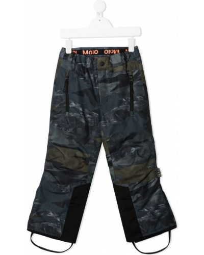 Брючные зеленые брюки с поясом с заплатками Molo