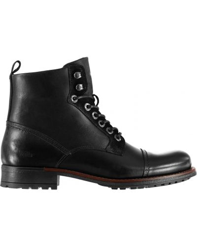Ankle boots skorzane koronkowe sznurowane Jack Wills