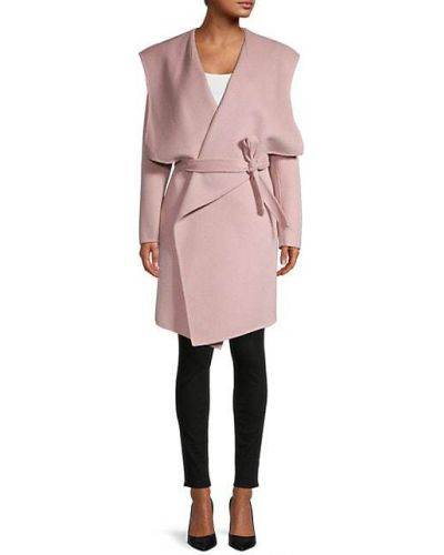 Шерстяное длинное пальто с капюшоном с воротником Soia & Kyo