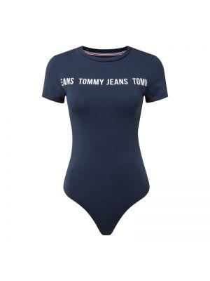 Niebieski body krótki rękaw bawełniany Tommy Jeans