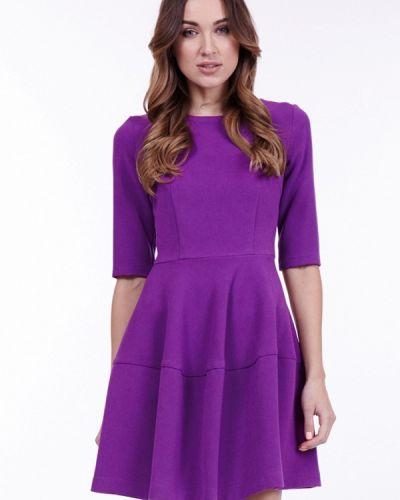 Платье осеннее фиолетовый Vladi Collection
