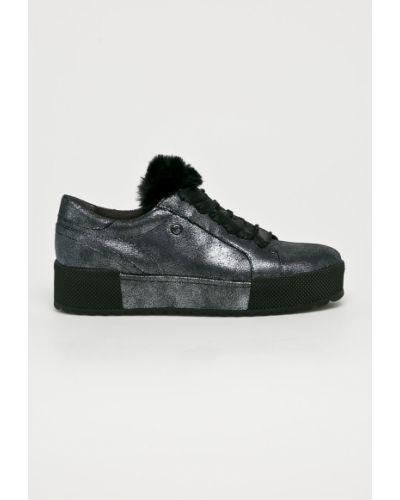 Туфли на танкетке на шнуровке кожаные Tamaris
