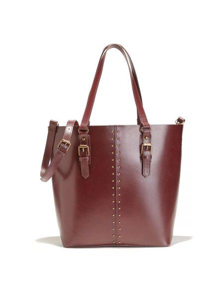 Красная сумка через плечо с камнями на молнии с карманами La Redoute Collections