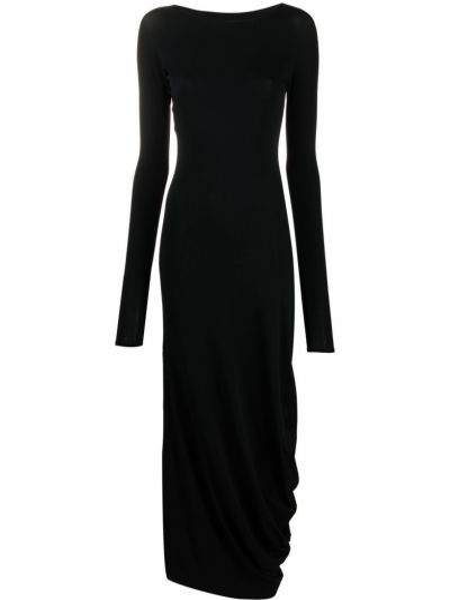 Платье макси с длинными рукавами - черное Maison Margiela