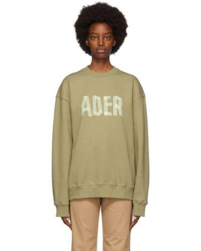 Z rękawami bawełna żółty bluza z kołnierzem Ader Error