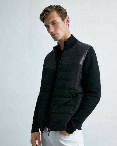 Черная куртка осенняя Massimo Dutti