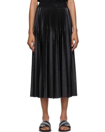 Pofałdowany czarny spódnica plisowana przycięte Givenchy