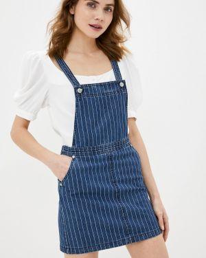 Джинсовое платье платье-сарафан синее Brave Soul