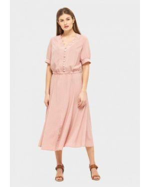 Повседневное платье розовое весеннее Danna
