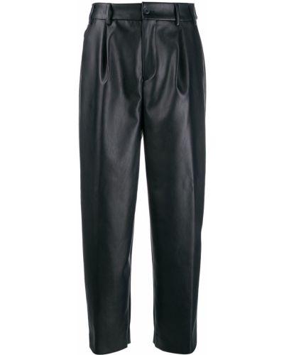 Укороченные брюки со складками с карманами Pt01