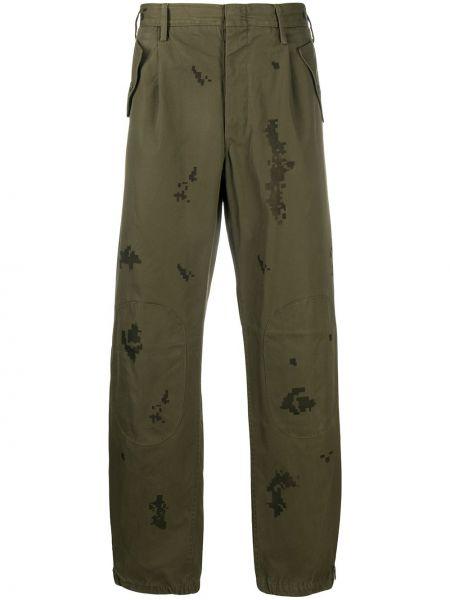 Zielone spodnie bawełniane z paskiem Myar